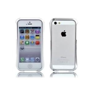 Deff Cleave Metallic Aluminium Bumper Case Cover for Apple iPhone 5 - Silver