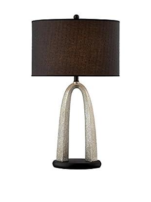 Lite Source Bambina Table Lamp, Silver/Black