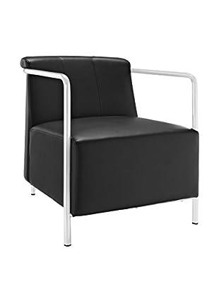 Modway Ebb Vinyl Lounge Chair, Black