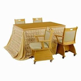 山善 【暖房器具】家具調コタツ 6点セット(135×85cm) LKS-1351SD 6SET
