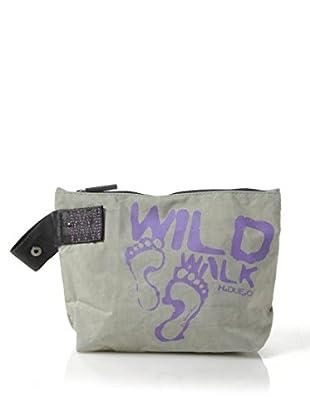 H.Due.O Necessaire Wild Walk Grigio/Viola