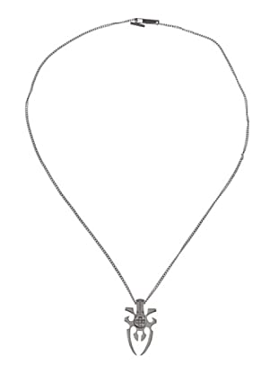 Rebecca LTRMDD56 - Collar unisex de acero inoxidable con 5 diamantes