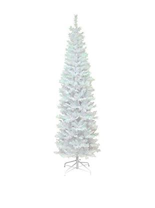 National Tree Company 6' White Iridescent Tinsel Tree