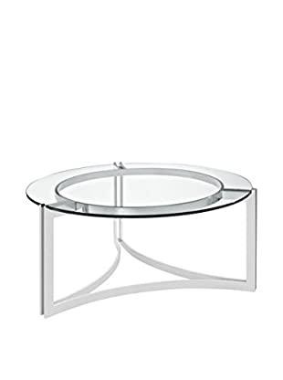 Modway Signet Stainless Steel Coffee Table, Silver