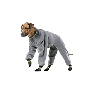 Muttluks 4-Legged Fleece Dog Jogger, Size 18, Grey