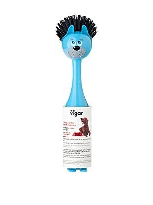 VIGAR Cepillo 2 Piezas Vincents Pets G Azul