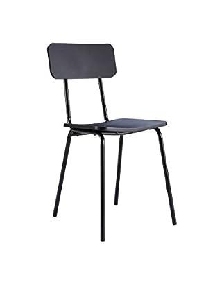 Stuhl Model 2 schwarz 83 x 41 x 49 cm