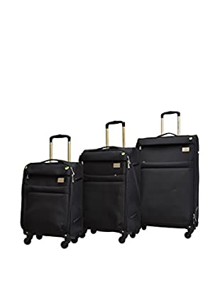 Adrienne Vittadini High Density 3-Piece Luggage Collection, Black