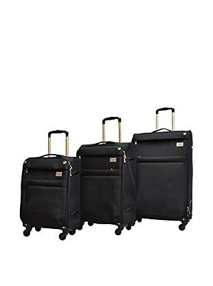 Adrienne Vittadini High Density 3-Pc Luggage Collection, Black