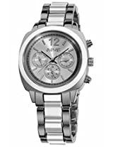 August Steiner Multi-Function Silver-Tone And White Resin Ladies Watch As8062Wt