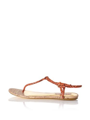 Ted Baker Women's Ajania T-Strap Sandal (Orange)