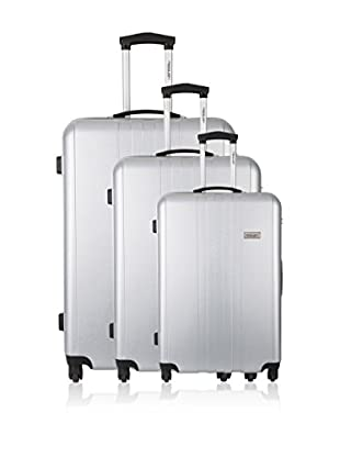 Travel ONE Set de 3 trolleys rígidos Burnley Plata