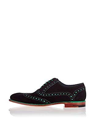 George Webb Zapatos Oxford Grant (Negro / Verde)