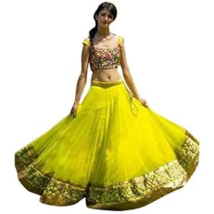 Vikas Fashion Designer Yellow Velvet Lehenga Choli