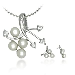 AGREEBLE PEARL PENDANT SET DSN223