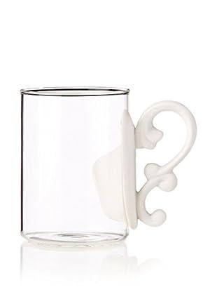 Seletti Baroque Era Glass Mug with a Porcelain Handle