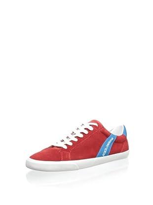 Dolce & Gabbana Men's Suede Sneaker (Red)