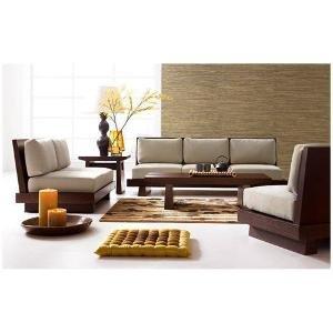 Induscraft Sheesham Wood 5 Seater Sofa Set
