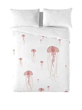DAVID DELFIN Juego De Funda Nórdica Jellyfish Pink