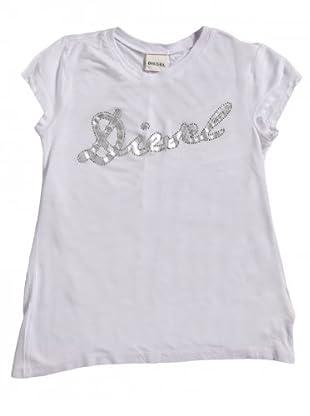Diesel Kid T-Shirt Tifime (Weiß/Grau)