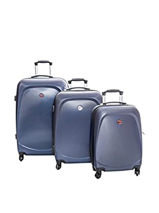 Geographical Norway Set de 3 trolleys rígidos Salvadore