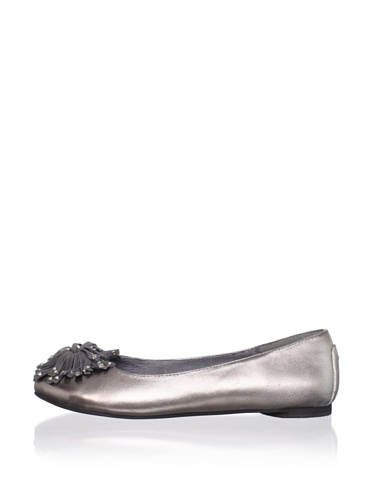 J. Loren Kid's Mary Dress Shoe (Pewter)