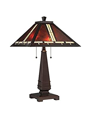 Lite Source Crimson 2-Light Table Lamp, Dark Bronze With Mica