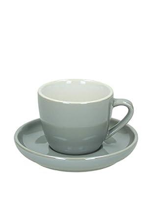 Tognana  Kaffeetasse mit Untertasse 6er Set Colortek grau