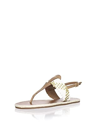 Madison Harding Women's Ash Flat Sandal (White)