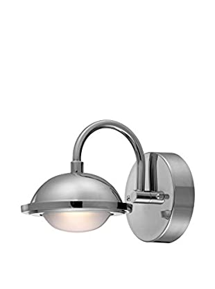 Lite Source Dekel LED Wall Lamp, Chrome/Frosted