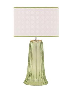 Palm Beach Glass Lamp, Green