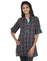 Rajrang Cotton Kurti - PTP00012 (Black)