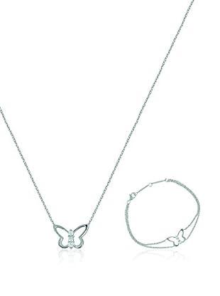 Eliot Conjunto de collar y pulsera plata de ley 925 milésimas
