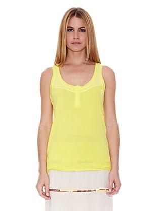 Naf Naf Camiseta Guillemette (Amarillo)