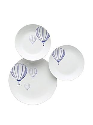 Enjoy Home  Geschirr 18 tlg. Set Balloon weiß/blau