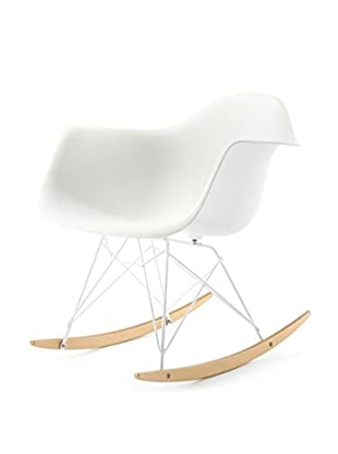Meelano M10 Rocking Chair In White And Gold