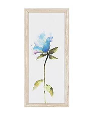 Surya Blue Water Color Flower Wall Décor, Multi, 26