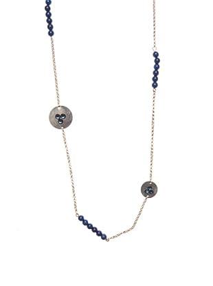 Lola Casademunt Collar Bolitas Azul Única