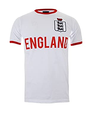 TOFFS - RETRO FOOTBALL APPAREL Camiseta Manga Corta England Ringer