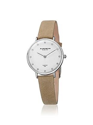 Akribos XXIV Women's AK882WT Velvet Beige Leather Watch