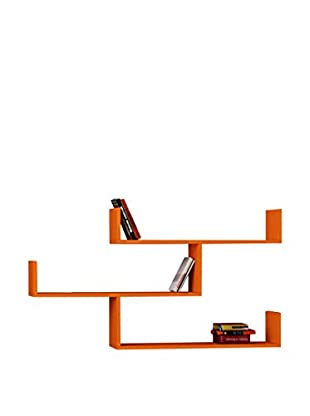 Best seller living Estantería De Pared Tibet Naranja