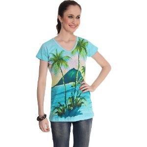 Sportelle USA India Women's Blue T-shirt