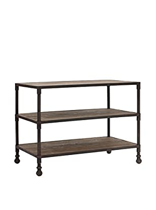 Zuo Modern Mission Bay Wide 3-Level Industrial Shelf, Distressed Natural