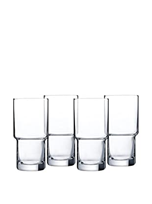 Arc International Set of 4 Bergen 16-Oz. Stackable Hi-Ball Glasses