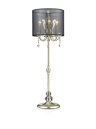 Dimond Lighting Andover Table Lamp, Silver Leaf Finish