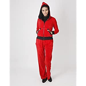 Martini Black And Red Colroed Trendy Tracksuit For Women