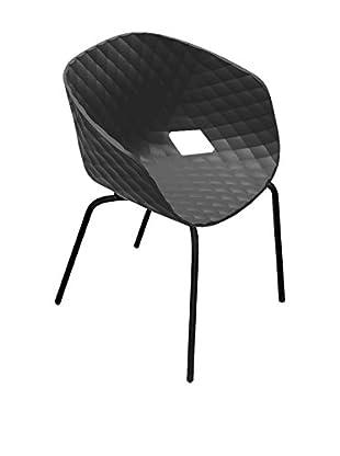 Metalmobil Sessel 2er Set Unika-594 schwarz/schwarz