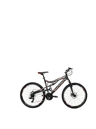 MOMA BIKES Bicicletta Btt 26 Alu Full Susp. Full Disc 24V Equinox Xl Nero