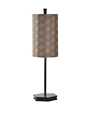 StyleCraft Wooden Spike 1-Light Desk Lamp, Black/Brown