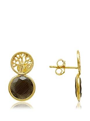 Silver One Pendientes  plata de ley 925 milésimas bañada en oro